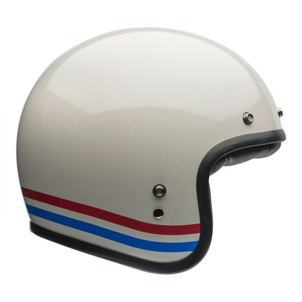 Custom500-Bell Cruiser 2018 Custom 500 Adult Helmet (Stripes Pearl White)