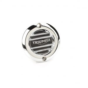Chrome Clutch Badge – Ribbed