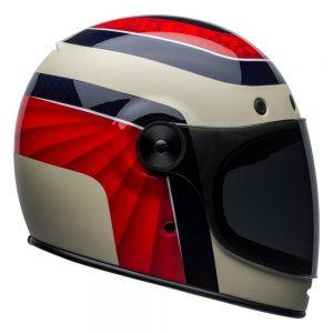 Bell Cruiser 2019 Bullitt Carbon Adult Helmet (Hustle Helmet Red/White/Candy Blue)