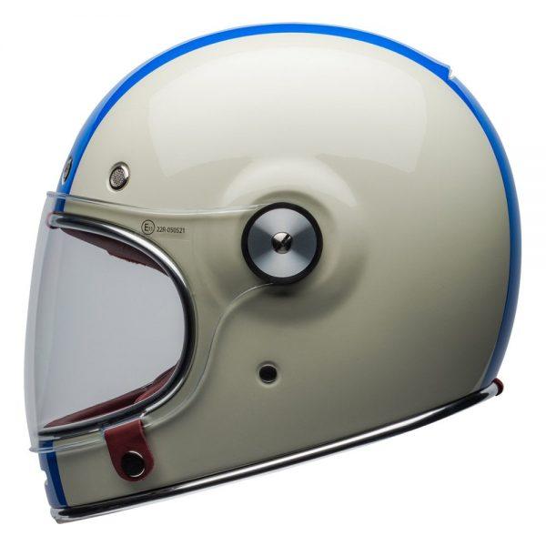 1548940530-11487300.jpg-Bell Cruiser 2019 Bullitt DLX Adult Helmet (Command Vintage White/Red/Blue)