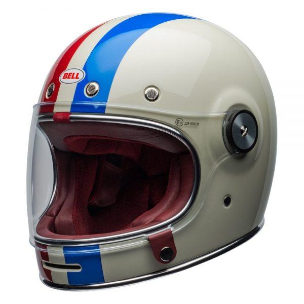1548940534-80821900.jpg-Bell Cruiser 2019 Bullitt DLX Adult Helmet (Command Vintage White/Red/Blue)