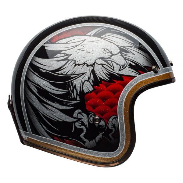 1548940577-46764300.jpg-Bell Cruiser 2019 Custom 500 Carbon Adult Helmet (Osprey Black/Yellow)