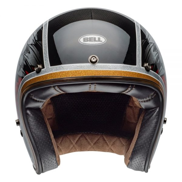1548940585-49965400.jpg-Bell Cruiser 2019 Custom 500 Carbon Adult Helmet (Osprey Black/Yellow)