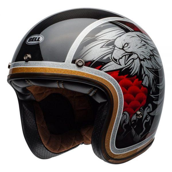 1548940593-96836000.jpg-Bell Cruiser 2019 Custom 500 Carbon Adult Helmet (Osprey Black/Yellow)