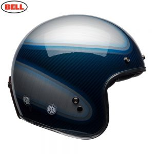 Bell Cruiser 2018 Custom 500 Carbon Adult Helmet (Jager Candy Blue)