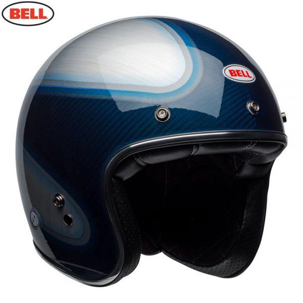1548940603-44710500.jpg-Bell Cruiser 2018 Custom 500 Carbon Adult Helmet (Jager Candy Blue)