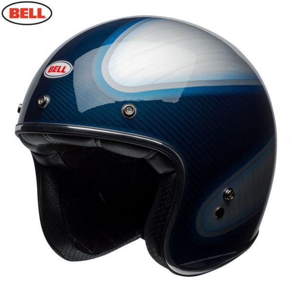 1548940607-90470600.jpg-Bell Cruiser 2018 Custom 500 Carbon Adult Helmet (Jager Candy Blue)