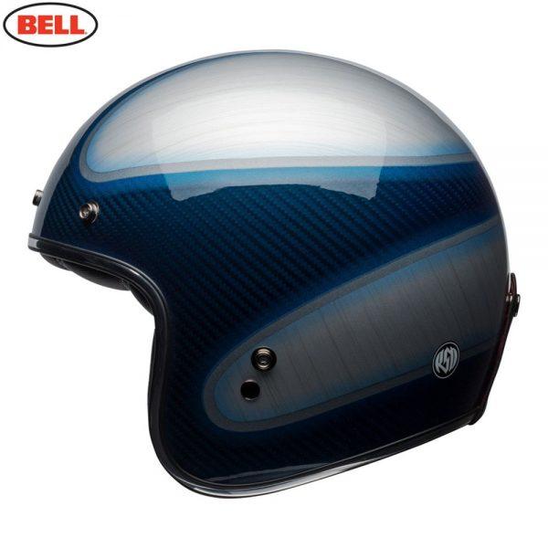 1548940609-98053600.jpg-Bell Cruiser 2018 Custom 500 Carbon Adult Helmet (Jager Candy Blue)