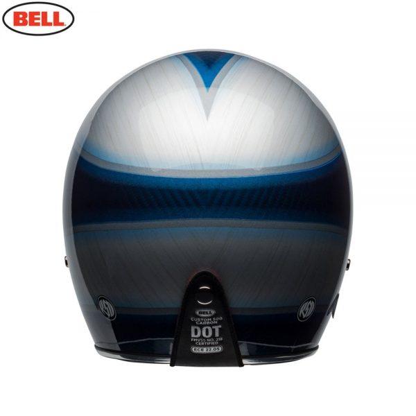 1548940614-07424200.jpg-Bell Cruiser 2018 Custom 500 Carbon Adult Helmet (Jager Candy Blue)