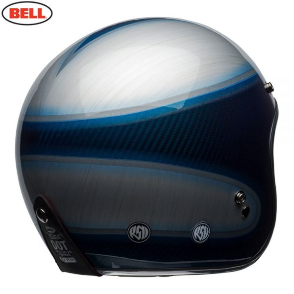 1548940616-08693200.jpg-Bell Cruiser 2018 Custom 500 Carbon Adult Helmet (Jager Candy Blue)