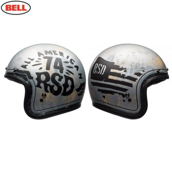 1548940622-66619800.jpg-Bell Cruiser 2018 Custom 500 SE Adult Helmet (RSD 74 Black/Silver)