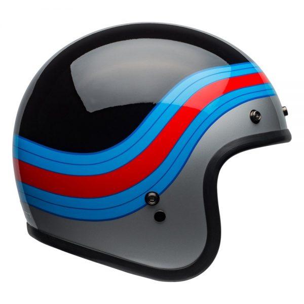 1548940657-02780200.jpg-Bell Cruiser 2019 Custom 500 DLX Adult Helmet (Pulse Black/Blue/Red)