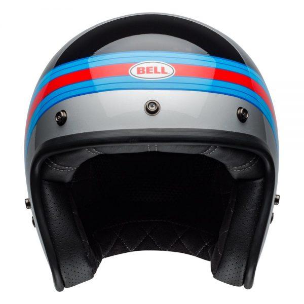 1548940663-71865800.jpg-Bell Cruiser 2019 Custom 500 DLX Adult Helmet (Pulse Black/Blue/Red)
