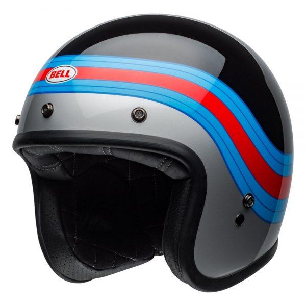 1548940667-67323000.jpg-Bell Cruiser 2019 Custom 500 DLX Adult Helmet (Pulse Black/Blue/Red)