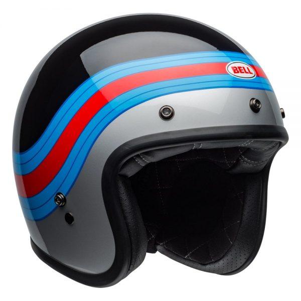 1548940671-65617200.jpg-Bell Cruiser 2019 Custom 500 DLX Adult Helmet (Pulse Black/Blue/Red)