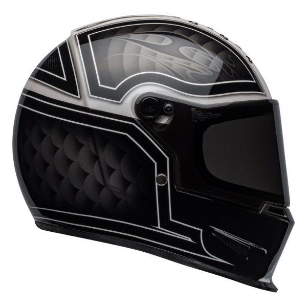 1548940724-87067400.jpg-Bell Cruiser 2019 Eliminator Adult Helmet (Outlaw Black/White)