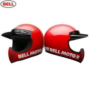 Bell Cruiser 2018 Moto 3 Adult Helmet (Classic Red)