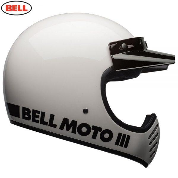 1548940874-22227700.jpg-Bell Cruiser 2018 Moto 3 Adult Helmet (Classic White)
