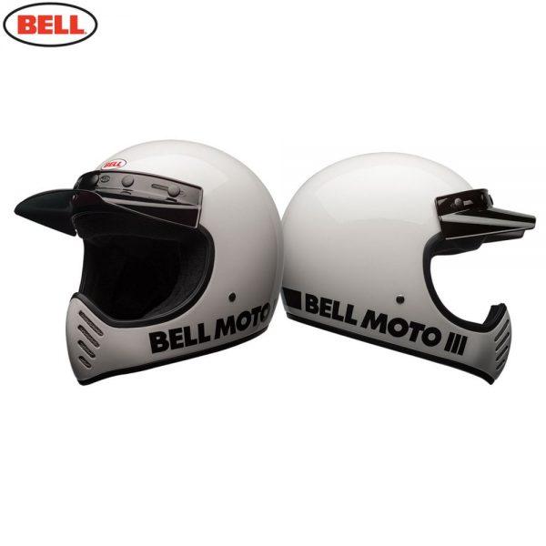 1548940877-61364100.jpg-Bell Cruiser 2018 Moto 3 Adult Helmet (Classic White)