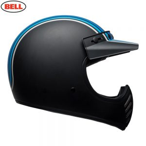Bell Cruiser 2018 Moto 3 Adult Helmet (Stripes Silver/Black/Blue)