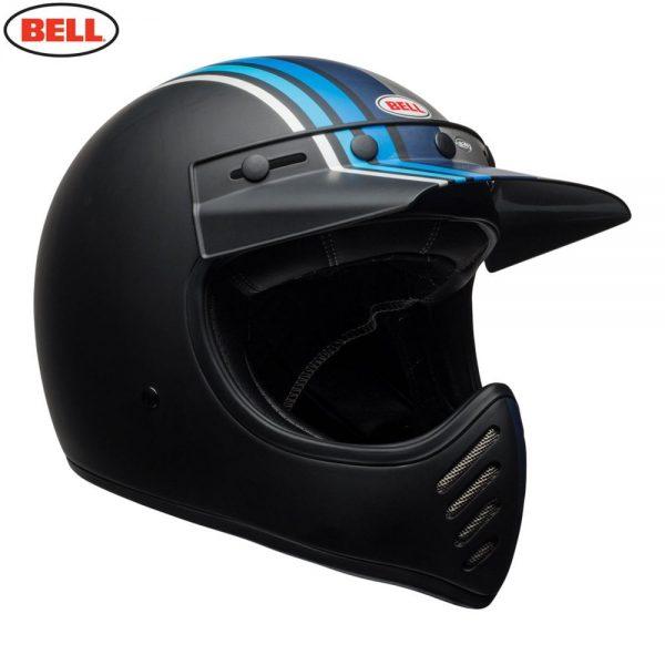 1548940883-06536100.jpg-Bell Cruiser 2018 Moto 3 Adult Helmet (Stripes Silver/Black/Blue)