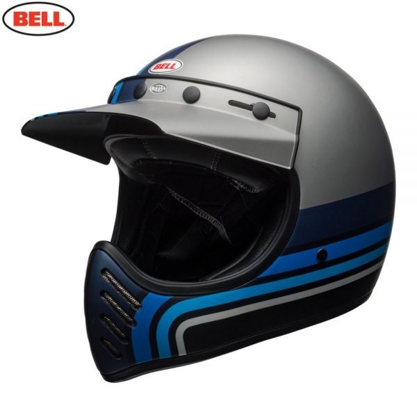 1548940886-49491500.jpg-Bell Cruiser 2018 Moto 3 Adult Helmet (Stripes Silver/Black/Blue)
