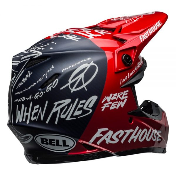 1548940921-04397600.jpg-Bell MX 2019 Moto-9 Flex Adult Helmet (Fasthouse Day In The Dirt Red/Navy)