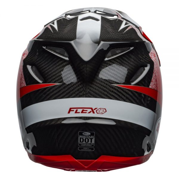 1548940966-90580600.jpg-Bell MX 2019 Moto-9 Flex Adult Helmet (Hound Red/White/Black)