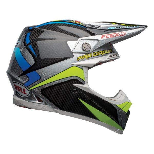 1548940979-56910300.jpg-Bell MX 2019 Moto-9 Flex Adult Helmet (Pro Circuit 19 Replica Black/Green)