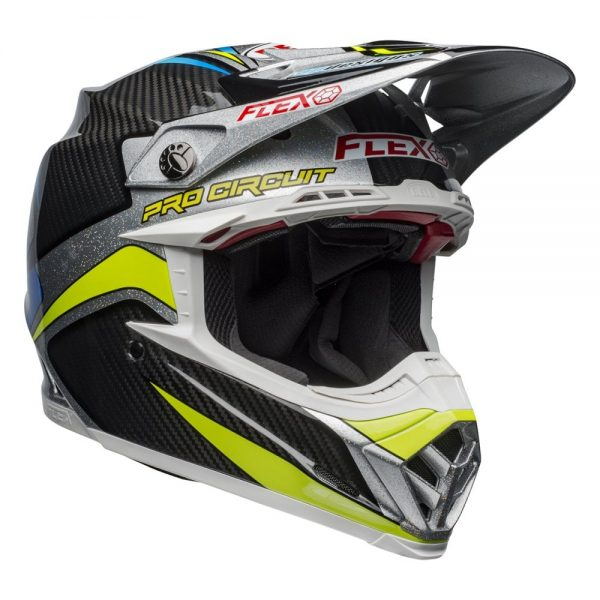 1548940995-26276100.jpg-Bell MX 2019 Moto-9 Flex Adult Helmet (Pro Circuit 19 Replica Black/Green)