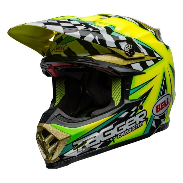 1548941000-66396000.jpg-Bell MX 2019 Moto-9 Flex Adult Helmet (Tagger Mayhem Green/Black/White)