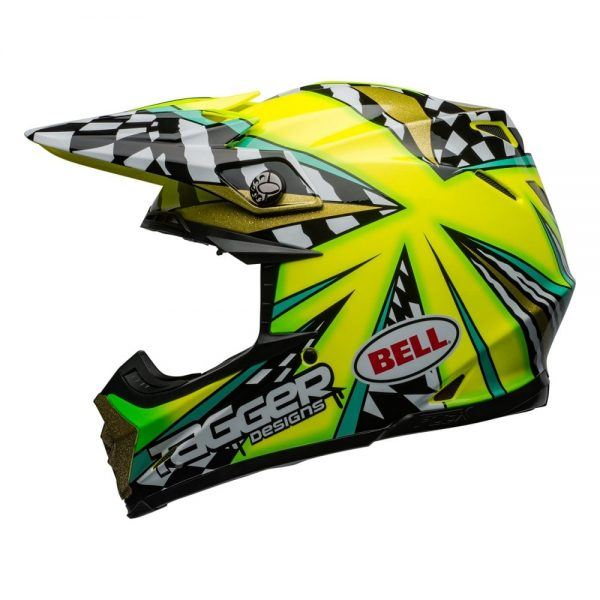 1548941008-48825700.jpg-Bell MX 2019 Moto-9 Flex Adult Helmet (Tagger Mayhem Green/Black/White)