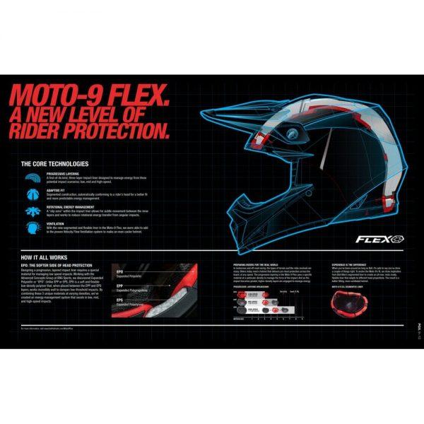 1548941078-74849900.jpg-Bell MX 2018 Moto-9 Flex Adult Helmet (Syndrome Matte Black)