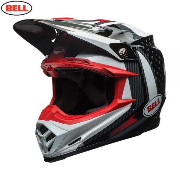 1548941085-95668200.jpg-Bell MX 2018 Moto-9 Flex Adult Helmet (Vice Black/White)
