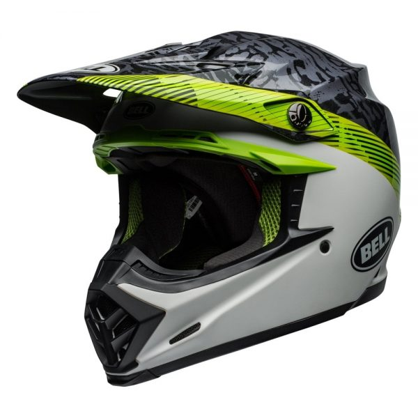 1548941138-90670800.jpg-Bell MX 2019 Moto-9 Mips Adult Helmet (Chief Black/White/Green)