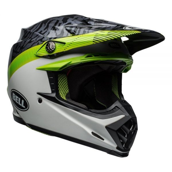 1548941143-17920800.jpg-Bell MX 2019 Moto-9 Mips Adult Helmet (Chief Black/White/Green)