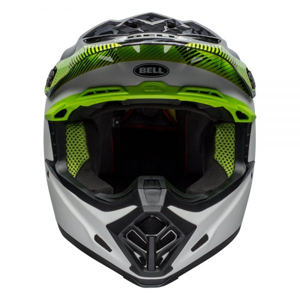 1548941147-75417300.jpg-Bell MX 2019 Moto-9 Mips Adult Helmet (Chief Black/White/Green)