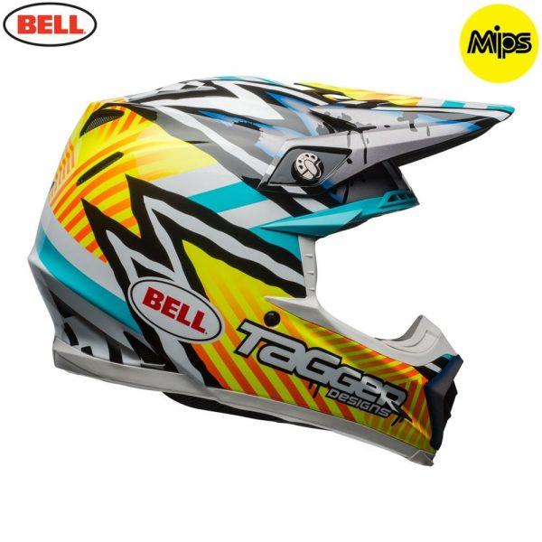 1548941230-76849200.jpg-Bell MX 2018 Moto-9 Mips Adult Helmet (Tagger Yellow/Blue/White)