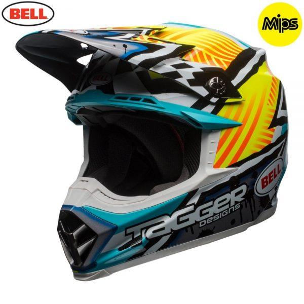 1548941238-19311600.jpg-Bell MX 2018 Moto-9 Mips Adult Helmet (Tagger Yellow/Blue/White)