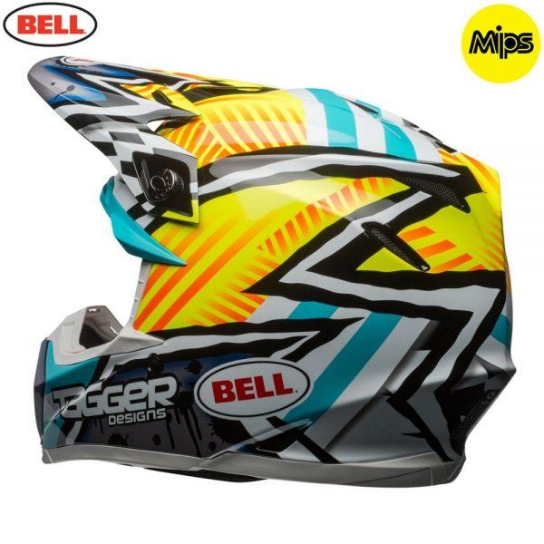 1548941242-80852100.jpg-Bell MX 2018 Moto-9 Mips Adult Helmet (Tagger Yellow/Blue/White)