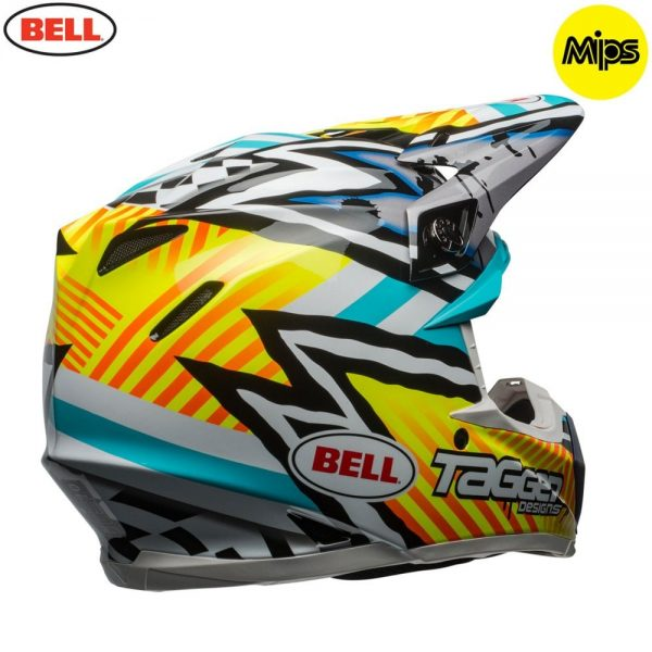 1548941247-27816100.jpg-Bell MX 2018 Moto-9 Mips Adult Helmet (Tagger Yellow/Blue/White)