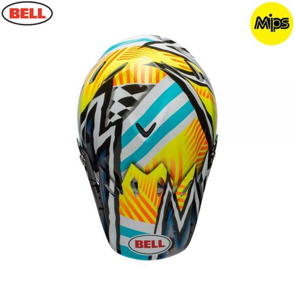 1548941249-67133200.jpg-Bell MX 2018 Moto-9 Mips Adult Helmet (Tagger Yellow/Blue/White)