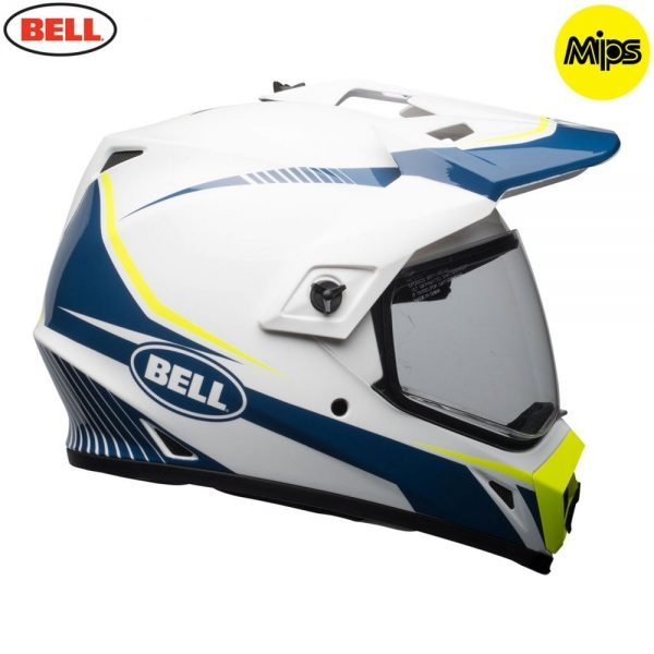 1548941390-81475200.jpg-Bell MX 2018 MX-9 Adventure Mips Adult Helmet (Torch White/Blue/Yellow)