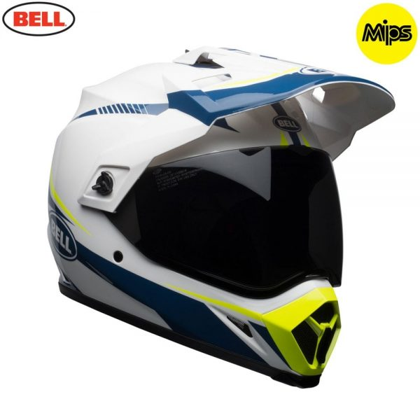 1548941392-83736200.jpg-Bell MX 2018 MX-9 Adventure Mips Adult Helmet (Torch White/Blue/Yellow)