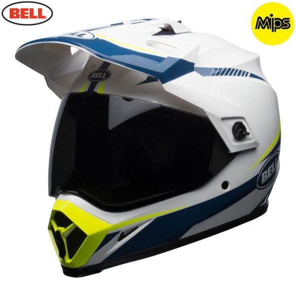 1548941396-63792500.jpg-Bell MX 2018 MX-9 Adventure Mips Adult Helmet (Torch White/Blue/Yellow)