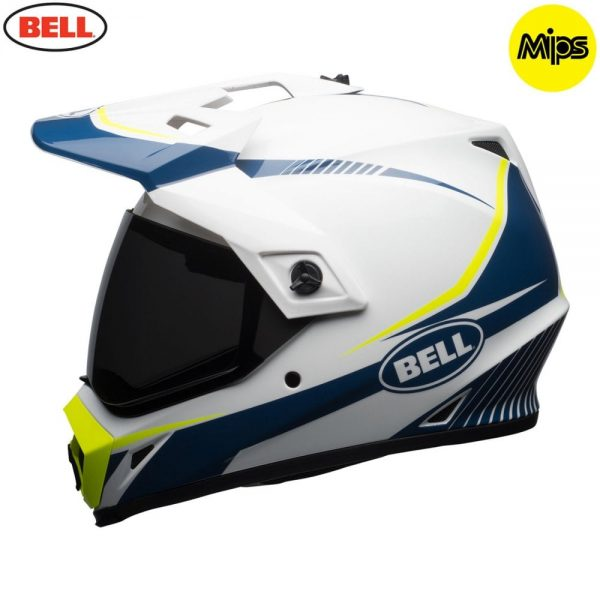1548941398-90936900.jpg-Bell MX 2018 MX-9 Adventure Mips Adult Helmet (Torch White/Blue/Yellow)