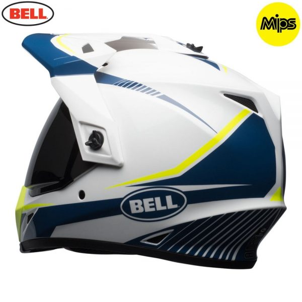 1548941400-90762000.jpg-Bell MX 2018 MX-9 Adventure Mips Adult Helmet (Torch White/Blue/Yellow)