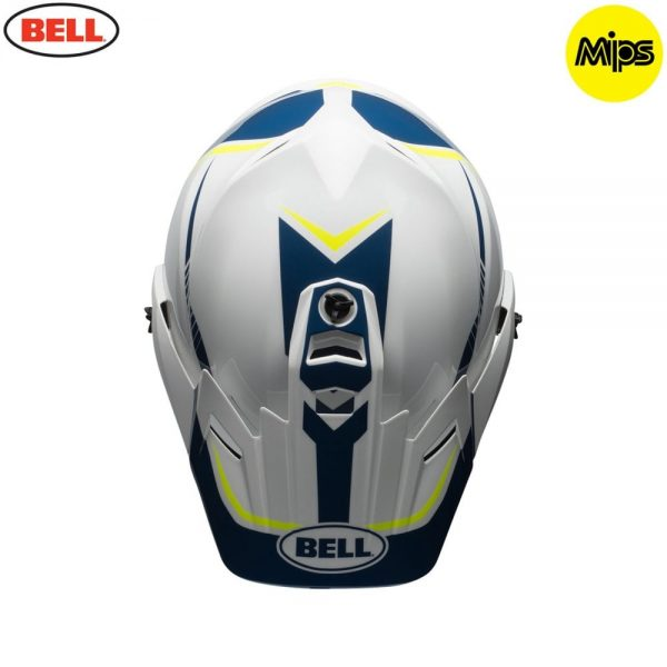 1548941404-28664700.jpg-Bell MX 2018 MX-9 Adventure Mips Adult Helmet (Torch White/Blue/Yellow)