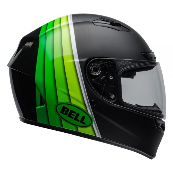 1548941580-58020100.jpg-Bell Street 2019 Qualifier DLX Mips Adult Helmet (Illusion Black/Green)
