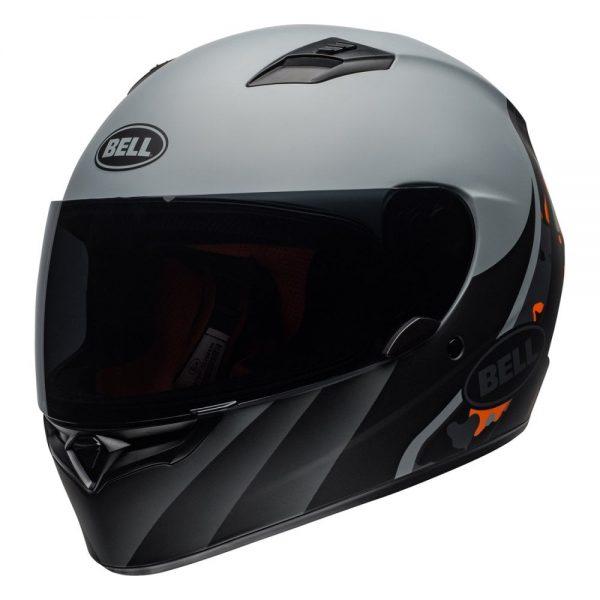 1548941733-40250900.jpg-Bell Street 2019 Qualifier STD Adult Helmet (Integrity Matte Camo Titanium/Orange)